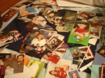 This was my photo board...yes, these photos needed a new home...it's TOO FULL!