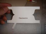 I Printed the words on Card Stock, then cut them out (click for mounting info and notes))