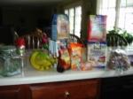 BLURRY PHOTO SERIES; Bananas $1.49, Extra Bold Goldfish $.99, Breakfast Oatmeal bars (Never tried them--fun!)