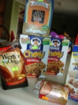 BLURRY PHOTO SERIES; Chewy Granola bars, Chocolate Chip, my fav, $.99, also, gingerbread cookies, which I'm loving with tea right now, and some chocolate-carmel things by Wether...not so crazy about those, but only a buck risk.